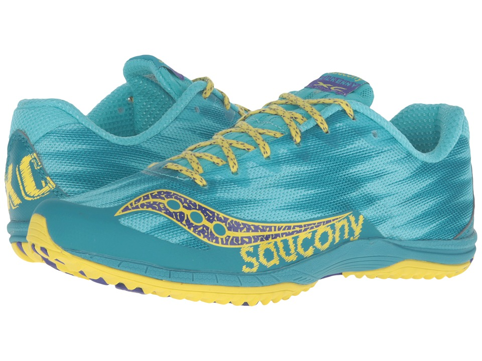 Saucony Kilkenny XC Flat (Teal/Yellow) Women's Shoes
