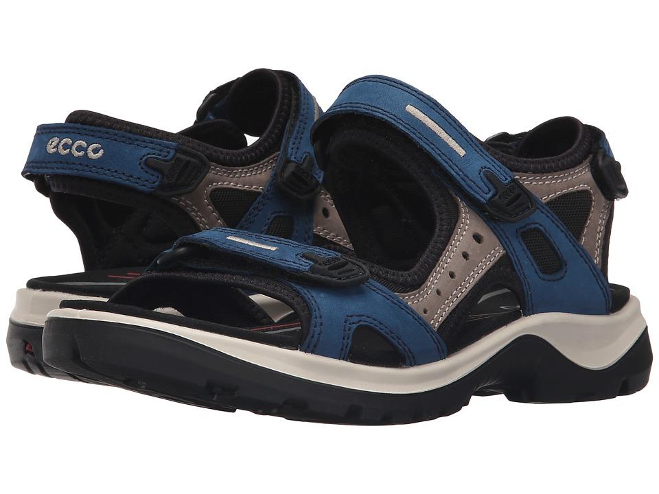 ECCO Sport Yucatan Sandal Poseidon/Warm Grey/Black Womens Sandals