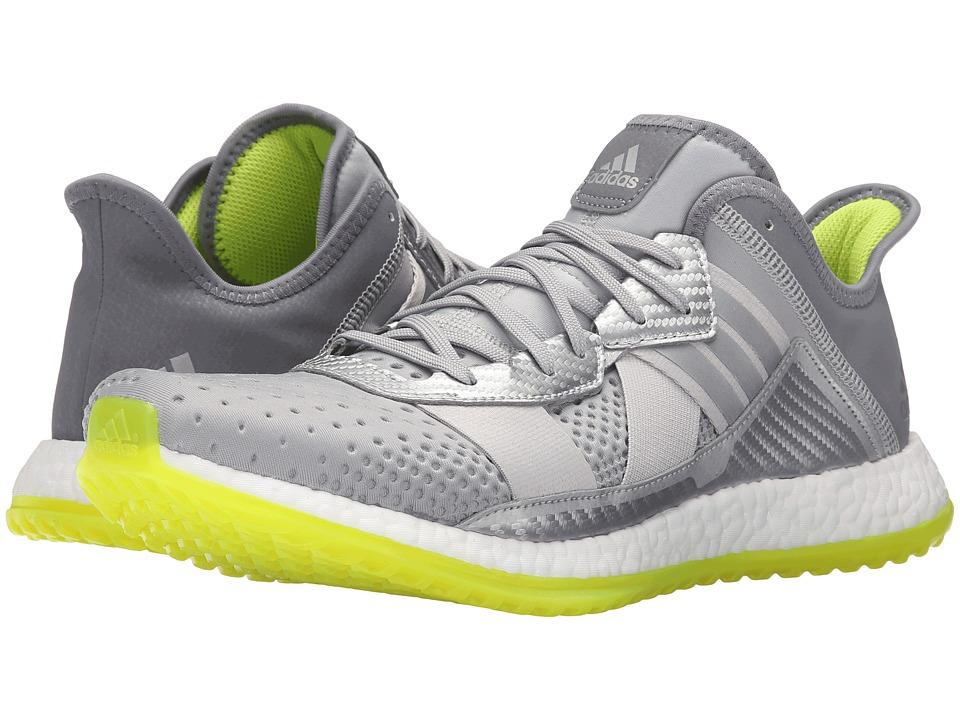 adidas - Pureboost ZG Trainer (Silver Metallic/White/Semi Solar Slime) Men