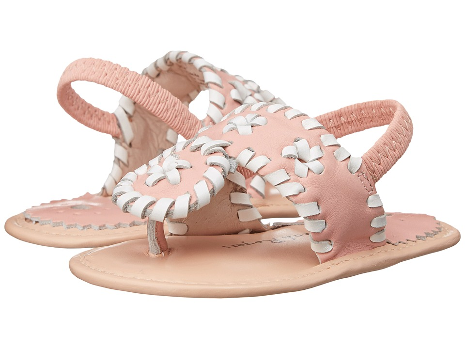 Jack Rogers Baby Jacks Infant Pink/White Womens Sling Back Shoes