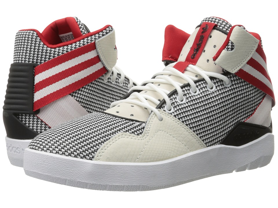 adidas Originals - Crestwood Mid (White/Black/Scarlet) Men