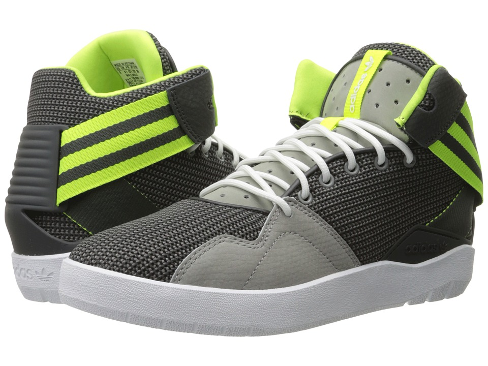 adidas Originals Crestwood Mid Charcoal Solid Grey/Solar Yellow/Dark Grey Heather Solid Grey Mens Shoes