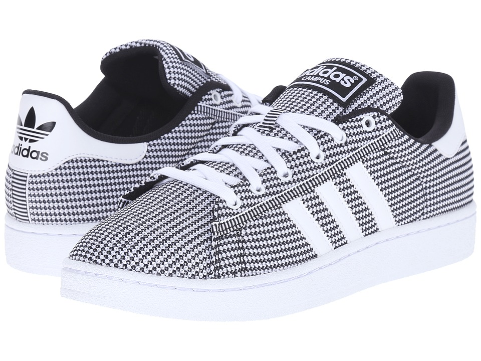 adidas Originals Campus Mesh White/White/Black Mens Basketball Shoes