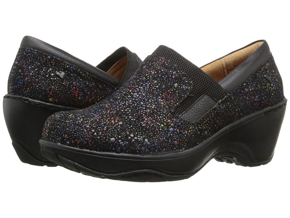 Nurse Mates Briley Black Rainbow Womens Clog Shoes