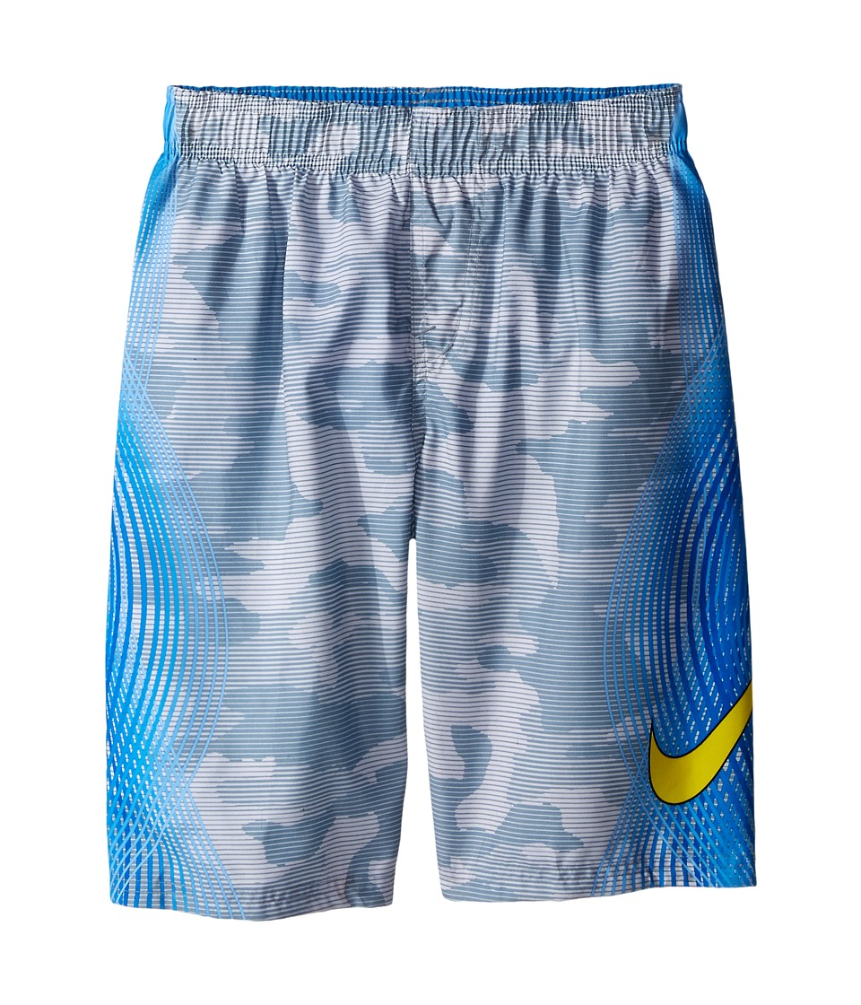 Nike Kids Camotion Volley Shorts Big Kids Dove Grey Boys Workout