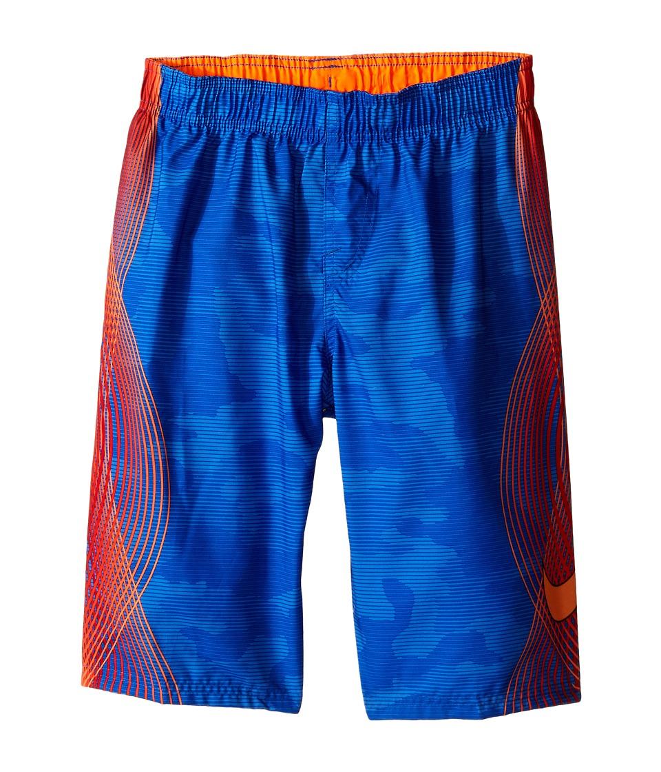 Nike Kids Camotion Volley Shorts Big Kids Hyper Cobalt Boys Workout