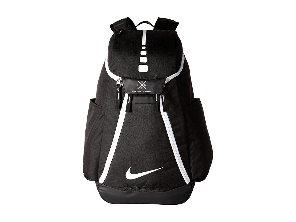 Nike - Hoops Elite Max Air Team Backpack (Black/Black/White) Backpack Bags