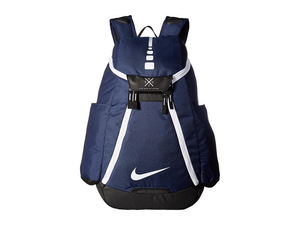 Nike - Hoops Elite Max Air Team Backpack (Midnight Navy/Black/White) Backpack Bags