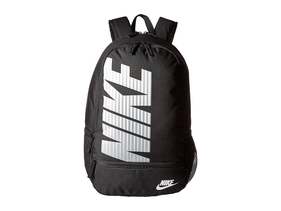 Nike - Classic North Backpack (Black/Black/White) Backpack Bags