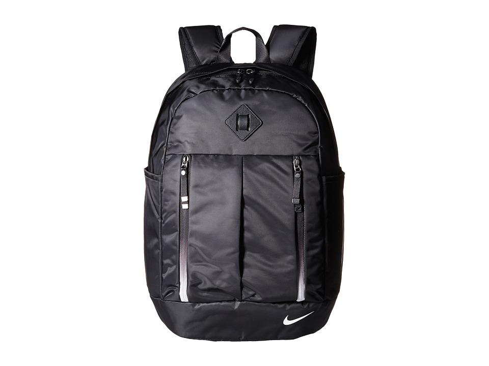 Nike - Auralux Backpack (Black/Black/White) Backpack Bags