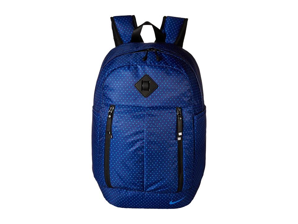 Nike - Auralux Backpack - Print (Deep Royal Blue/Black/Black) Backpack Bags