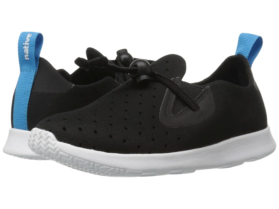Native Kids Shoes - Apollo Moc (Toddler/Little Kid) (Jiffy Black/Shell White) Kids Shoes