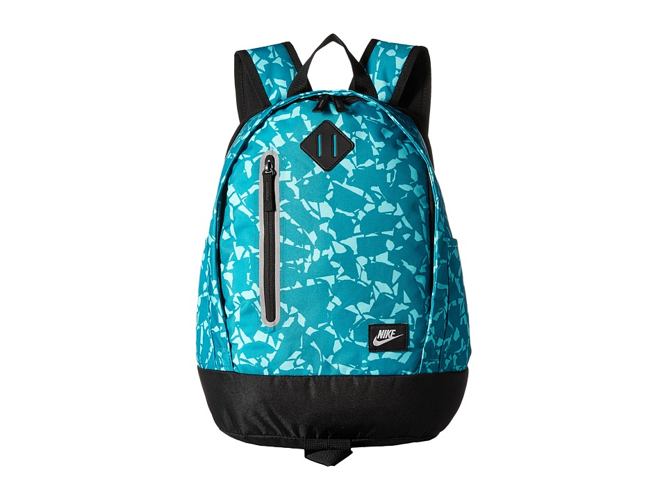 Nike - Young Athletes Cheyenne Print Backpack (Rio Teal/Black/Matte Silver) Backpack Bags