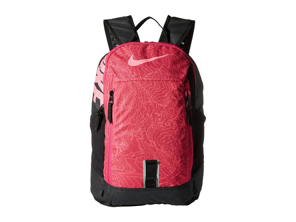 Nike - Young Athletes Alpha ADPT Rise Print Backpack (Vivid Pink/Black/Digital Pink) Backpack Bags