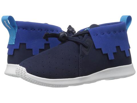 Native Kids Shoes Apollo Mid (Little Kid) - Regatta Blue /Victoria Blue/Shell White