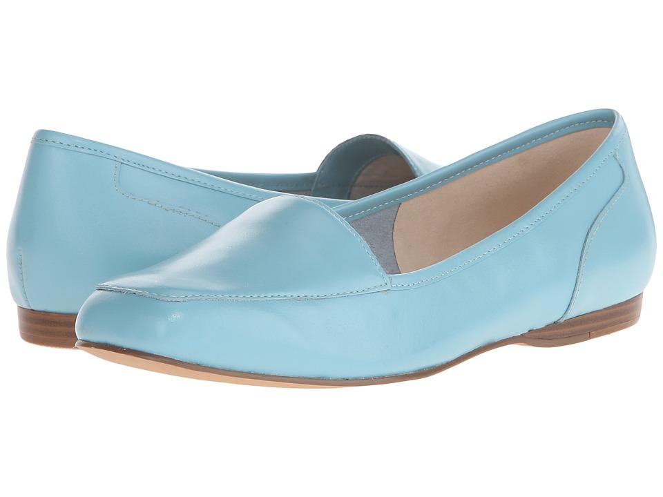 Bandolino Liberty Caribbean Blue Leather Womens Slip on Shoes
