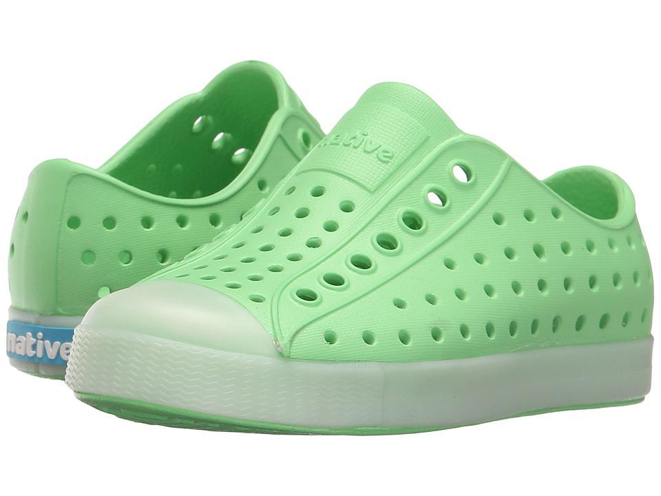 Native Kids Shoes Jefferson Toddler/Little Kid Mescal Green/Glow Rand Boys Shoes