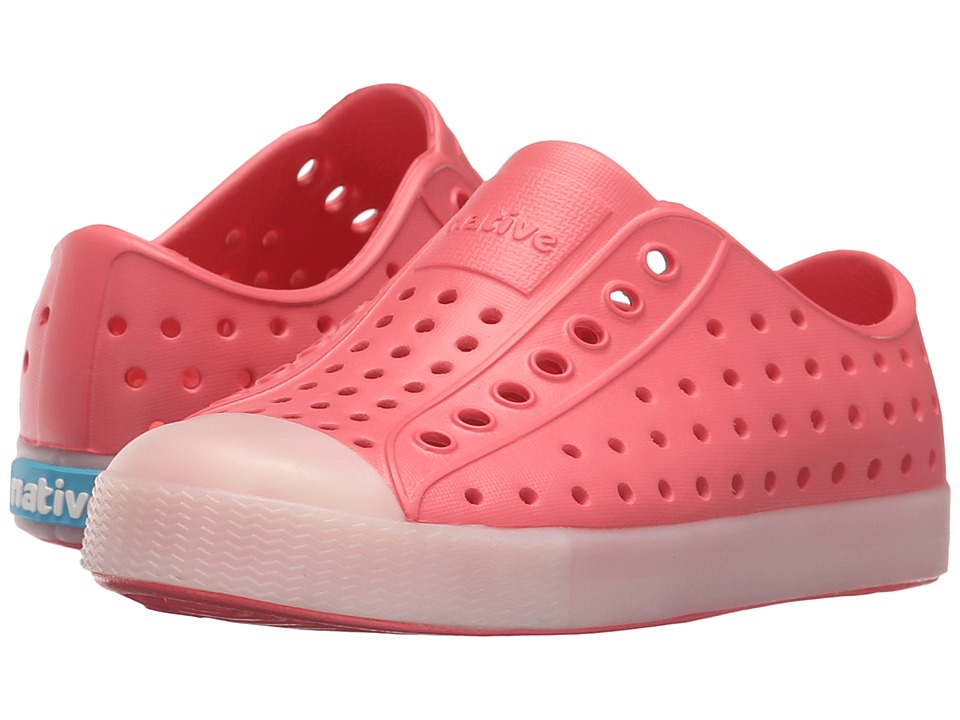 Native Kids Shoes Jefferson Toddler/Little Kid Snapper Red/Glow Rand Boys Shoes
