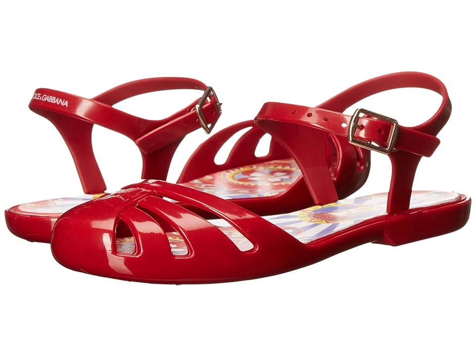 Dolce amp Gabbana Kids Beach Sandal Little Kid/Big Kid Red Kids Shoes