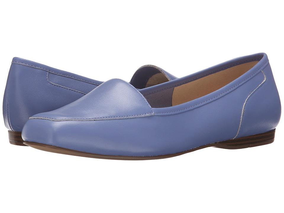 Bandolino Liberty Soft Periwinkle Leather Womens Slip on Shoes