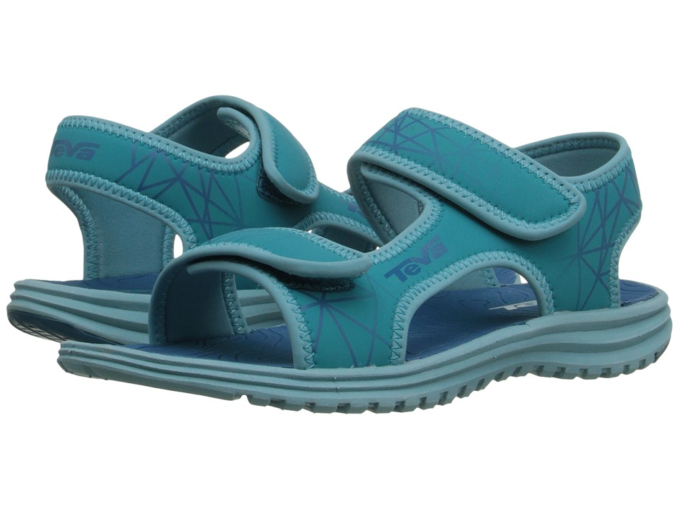 Teva Kids Tidepool Little Kid/Big Kid Turquoise/Blue Print Girls Shoes