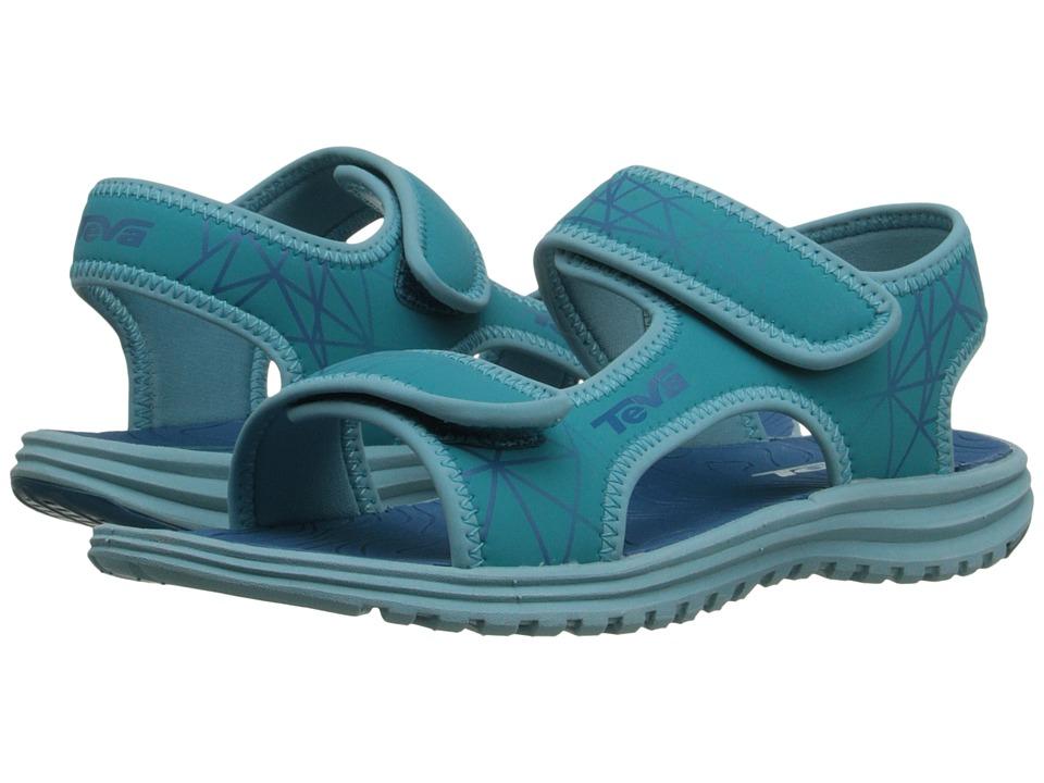Teva Kids Tidepool (Little Kid/Big Kid) (Turquoise/Blue Print) Girls Shoes
