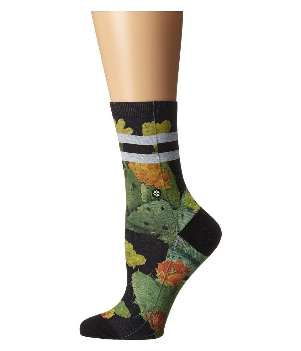 Stance Desert Flower Black Womens Crew Cut Socks Shoes