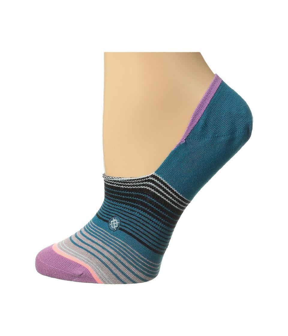 Stance La Paza Purple Womens Crew Cut Socks Shoes