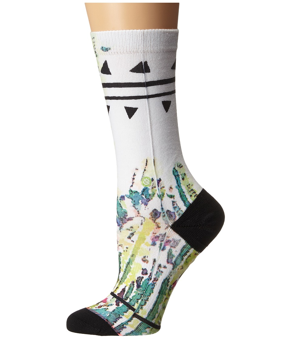 Stance Dez Daze White Womens Crew Cut Socks Shoes