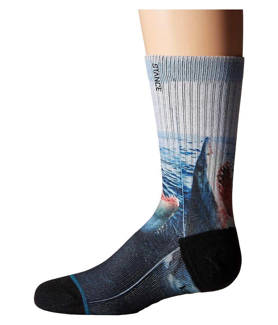 Stance Sea Wolf Toddler/Little Kid/Big Kid Blue Mens Crew Cut Socks Shoes