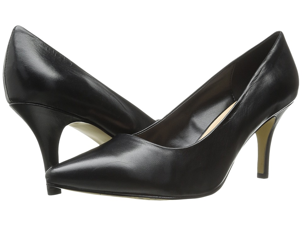 Bella Vita Define Black Leather High Heels