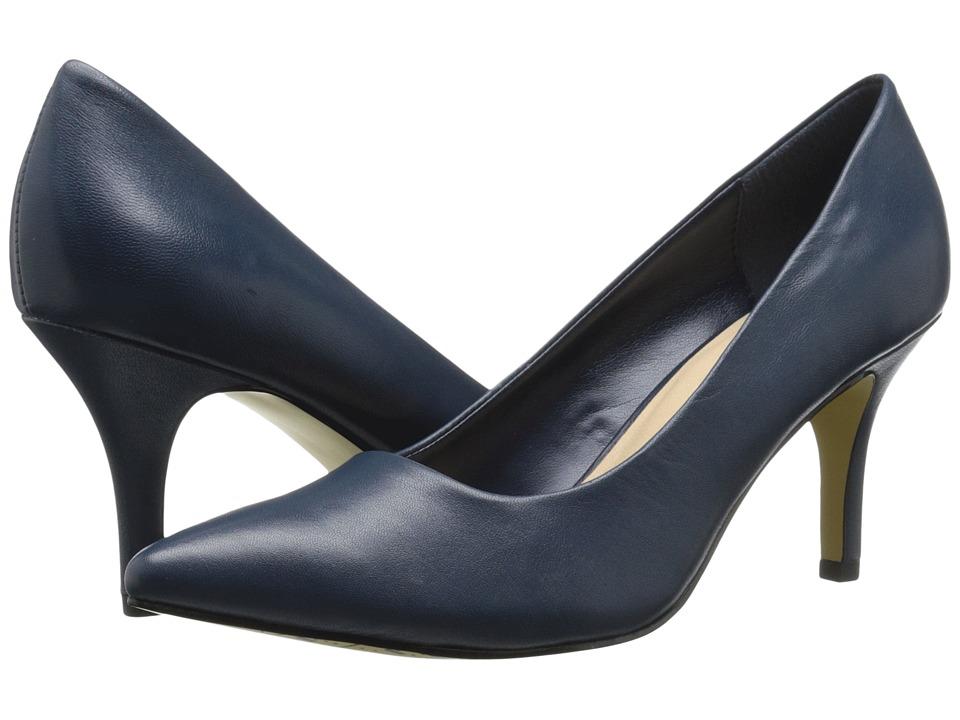 Bella Vita Define Navy Leather High Heels