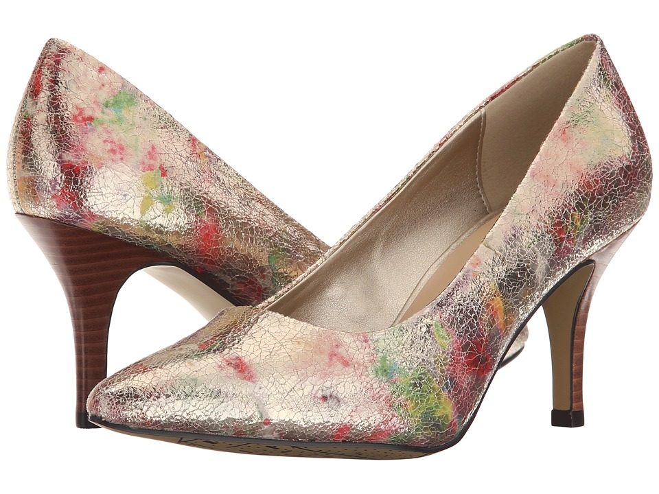 Bella Vita Define Metallic Floral High Heels