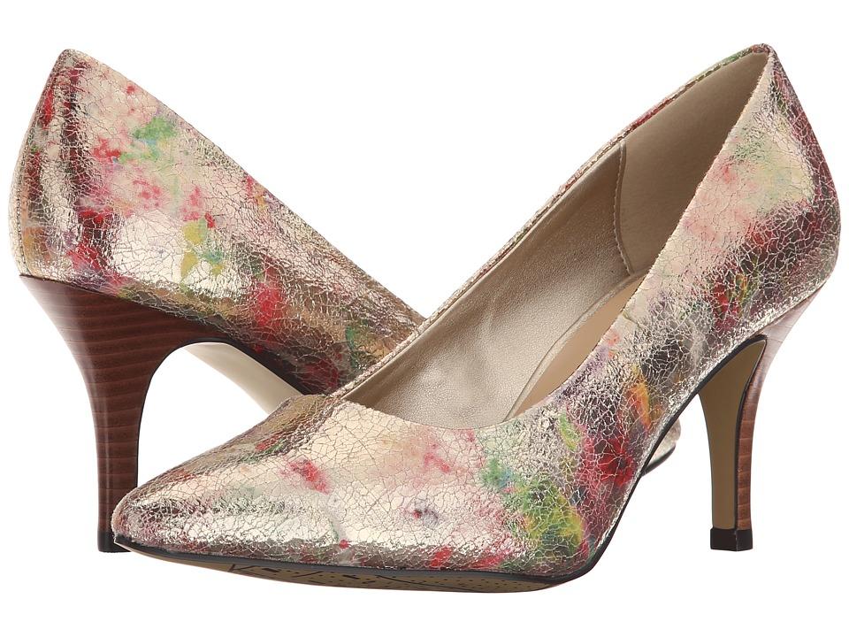 Bella Vita Define Metallic Floral High Heels