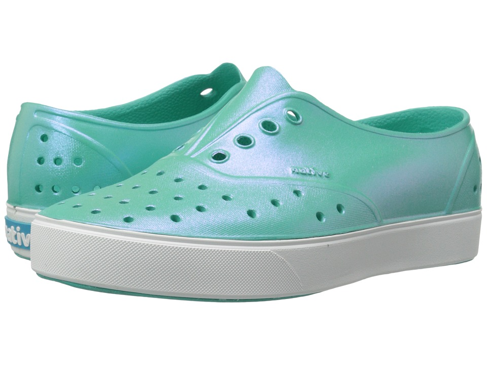 Native Kids Shoes Miller Iridescent Little Kid Atlantis Blue/Shell White/Iridescent Girls Shoes