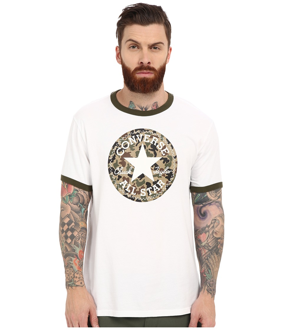 Converse Camo Chuck Patch Ringer Tee White Mens Short Sleeve Pullover