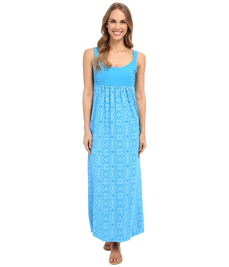 Fresh Produce Shibori Malibu Maxi Dress Marina Blue Womens Dress