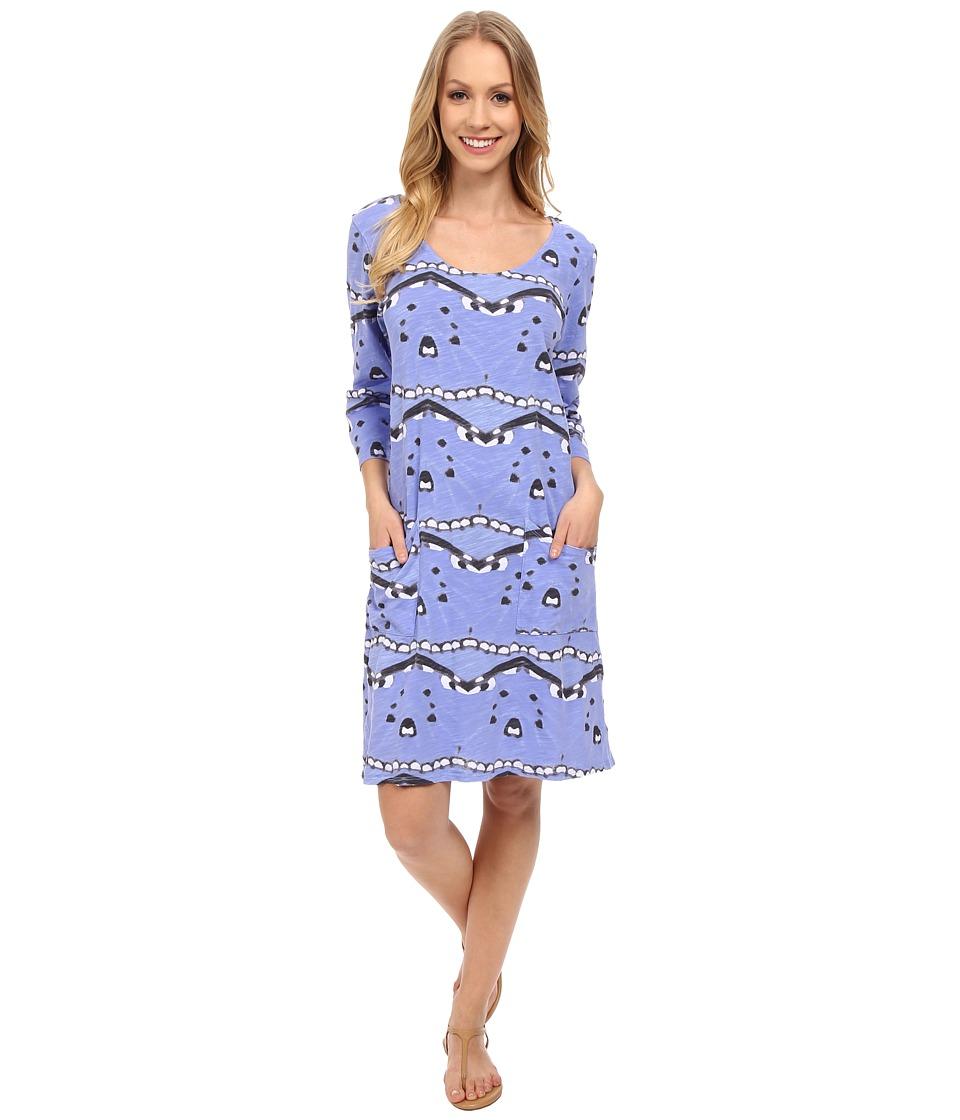 Fresh Produce Flutter Dalia Dress Peri Blue Womens Dress
