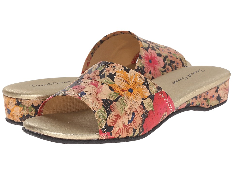 Daniel Green Dormie (Floral Cork) Slippers