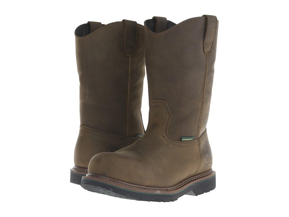 John Deere 10 WP Pull On Boot Aged Oak Mens Work Boots