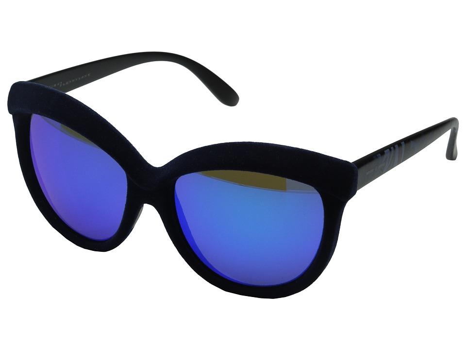 Italia Independent 0092V Dark Blue Zebraffa Fashion Sunglasses