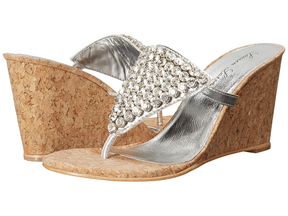 Lauren Lorraine Anguilla Cork Silver Womens Shoes