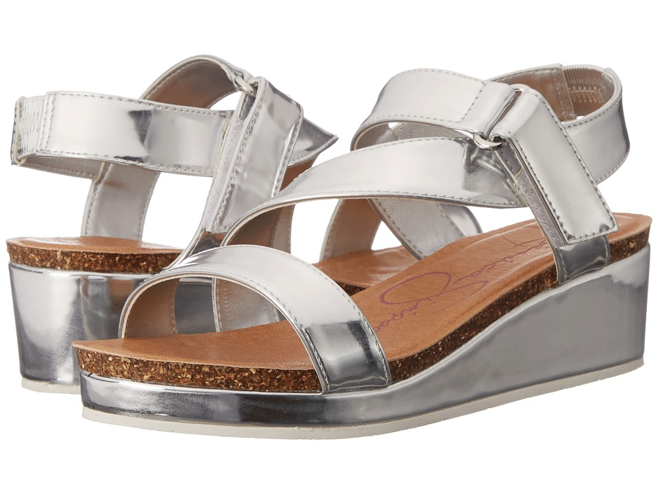 Jessica Simpson Kids Maren Little Kid/Big Kid Silver Metal Girls Shoes