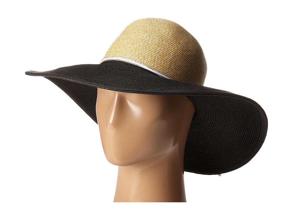 Echo Design Bi Color Floppy Hat Black Dress Hats