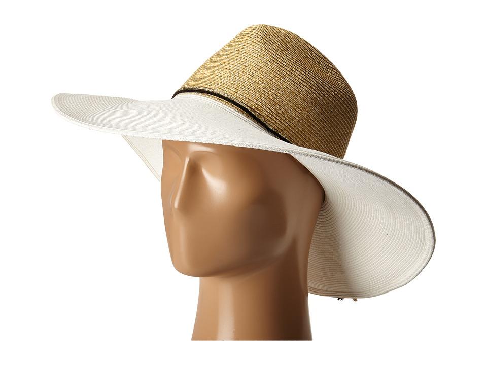 Echo Design Bi Color Floppy Hat White Dress Hats