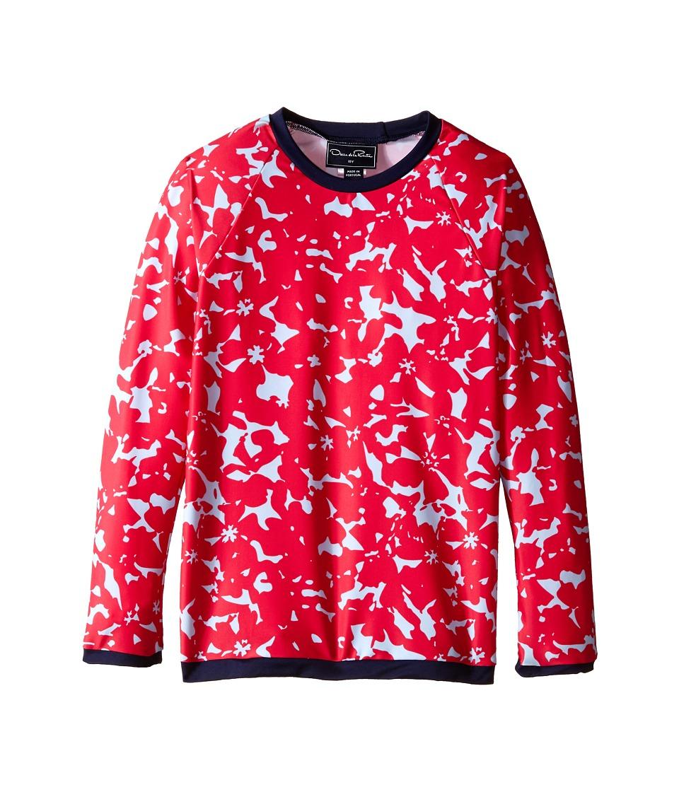 Oscar de la Renta Childrenswear Abstract Floral Rashguard Toddler/Little Kids/Big Kids Ruby Girls Swimwear