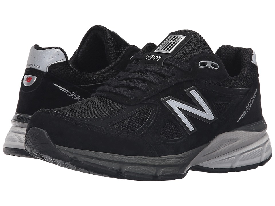 New Balance W990v4 (Black/Silver) Women's Running Shoes