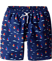 Oscar de la Renta Childrenswear - Sailboat Classic Swim Shorts (Toddler/Little Kids/Big Kids)