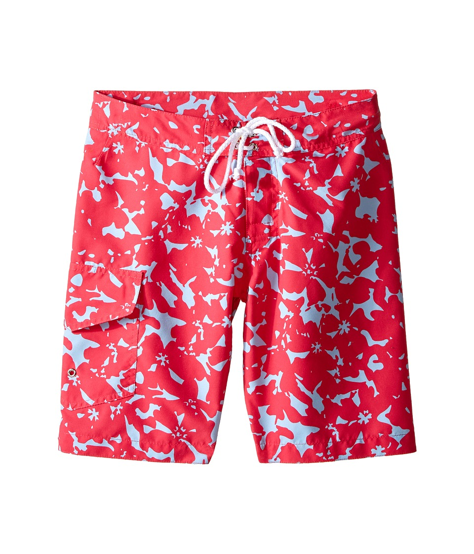Oscar de la Renta Childrenswear Abstract Floral Surfer Boardshorts Toddler/Little Kids/Big Kids Ruby Boys Swimwear