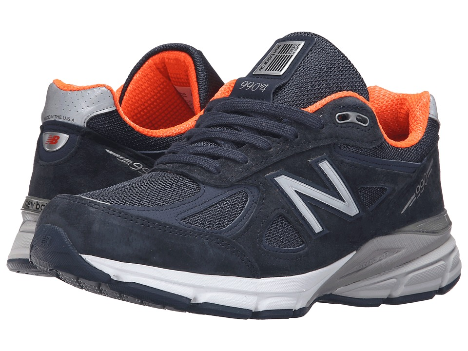New Balance W990v4 (Navy/Orange) Women's Running Shoes